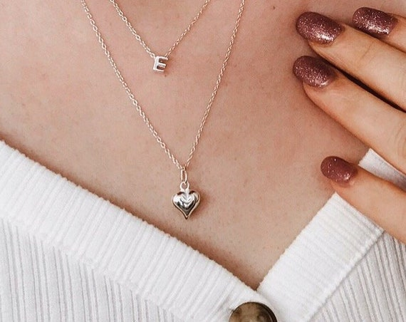Heart Necklace, Sterling Silver - Karma Collection