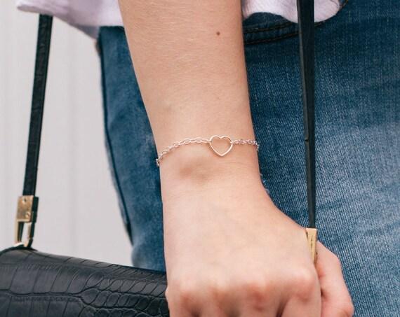 Heart Bracelet (Large), Sterling Silver - Karma Collection