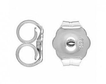 100 Plastic Earring Backs Stoppers Ear Nuts 5mm x 5mm J00347K