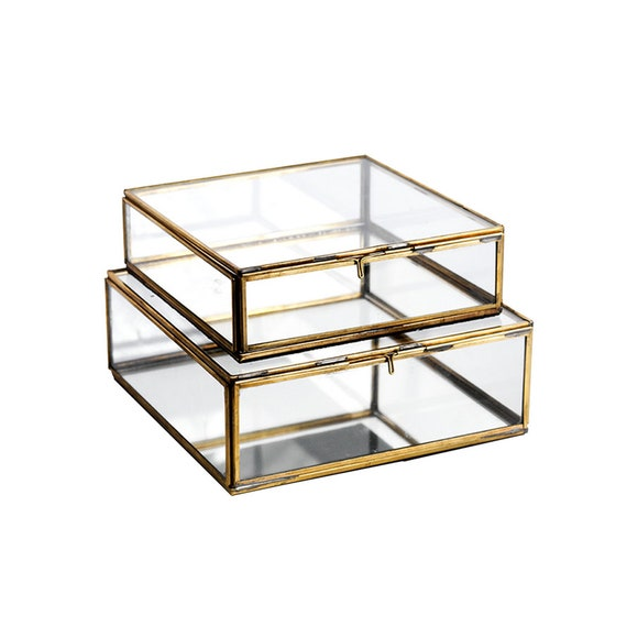Antique Brass Jewellery Storage Box