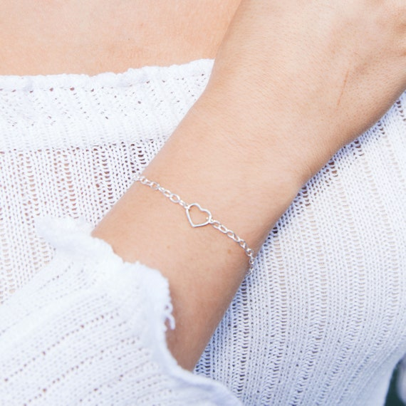 Heart Bracelet (Small), Sterling Silver - Karma Collection