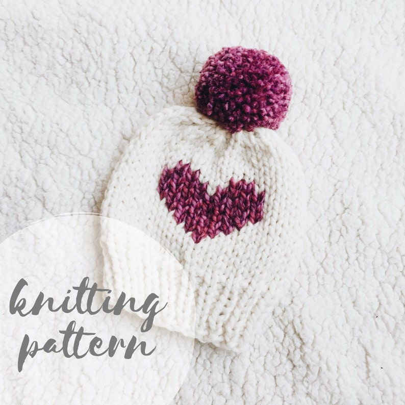 Knit hat pattern knitting pattern knitted beanie heart hat  5b0b91828da