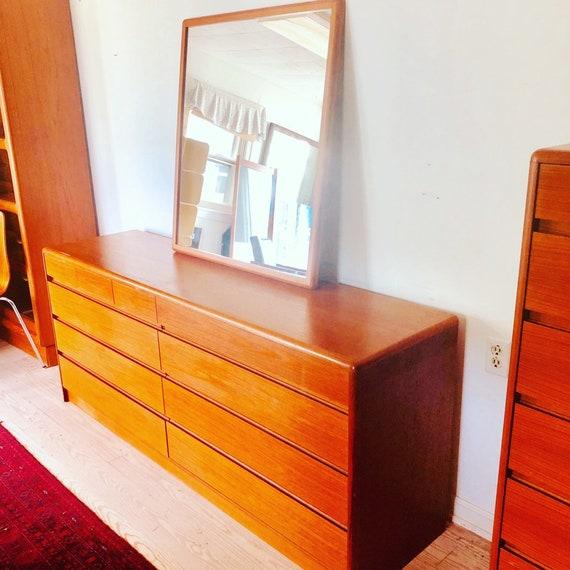 Complete Six Piece Danish Modern Teak Bedroom Suite Mid Century Modern