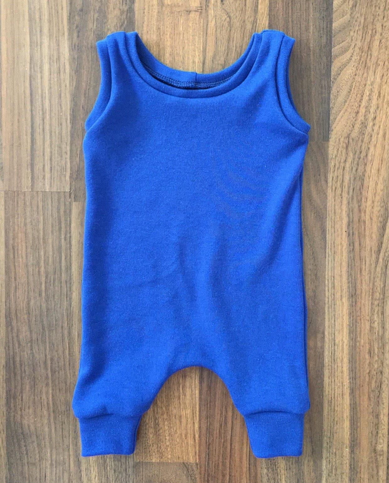 adb7ee5ba Royal Blue Knit Sweater Harem Romper Blue Preemie Romper