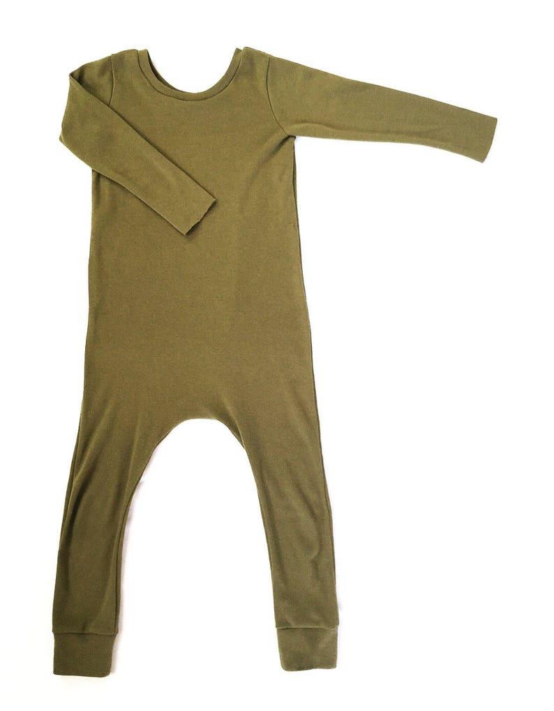 81ee12017 Olive Green Knit Sweater Harem Romper Preemie Romper Baby