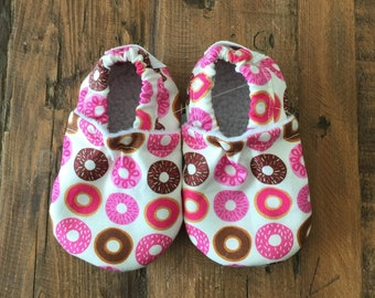 Soft Sole Baby Shoes Slippers Tiny Donuts Boy Girl Booties Crib Shoes