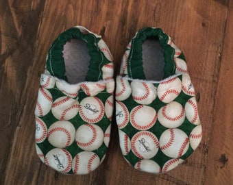 Soft Sole Baby Shoes Slippers Baseball Boy Girl Booties Crib Shoes