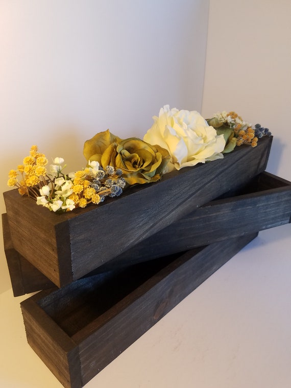 Incredible Set Of 2 Wood Planter Boxes Wooden Box Wedding Centerpiece Table Piece Table Rustic Handmade Succulent Box 18 Download Free Architecture Designs Viewormadebymaigaardcom