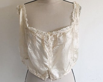 Antique 1900's cream silk camisole