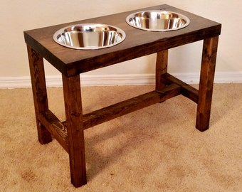 Elevated dog bowl, Large/Tall dog feeder, Dog bowl, Dog lover gift, Dog bowl stand, Pet furniture, Farmhouse decor, Raised dog bowl