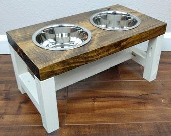 Dog Bowl Stand - Medium - The Original Farmhouse Dog Feeder - Elevated Dog Bowl - Dog Bowl - Raised Dog Bowl - Personalized Dog Bowl - Dog
