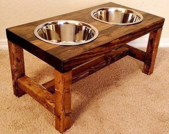 Elevated dog bowl, Large dog feeder, Dog bowl, Dog lover gift, Dog bowls, Dog bowl stand, Pet furniture, Farmhouse decor, Raised dog bowl