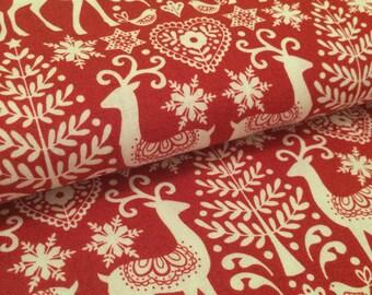 Scandi '17 Reindeer Red FatQuarter