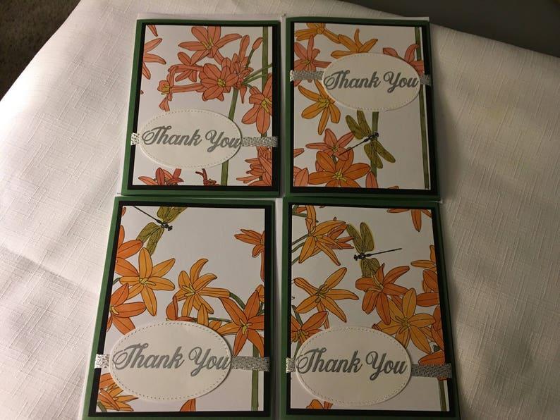 Handmade Stampin up Thank You Card Set
