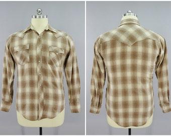 NOS Vintage Diamond Ranchwear Mens Western Pearl Snap White R48