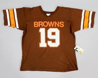 98328d81 Original 1980s Vintage Cleveland Browns Bernie Kosar No. 19 Football Jersey  by Salem Sportswear, USA, Size Medium 40