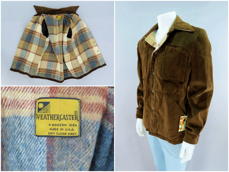 1960s – 70s Men's Ties | Skinny Ties, Slim Ties Blanket-Lined Brown Corduroy Car Coat Jacket By Weathercaster, Original 1960S Vintage Ranch Wear, Mens Size Medium, 42 $0.00 AT vintagedancer.com