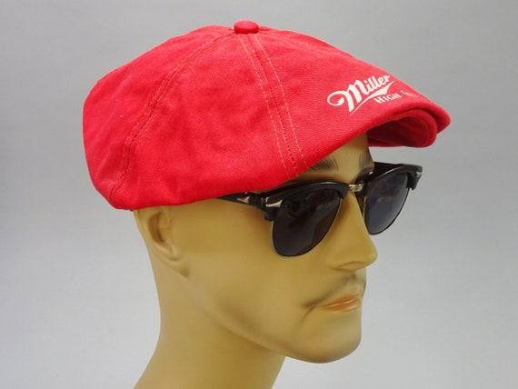 1970 s Vintage Miller High Life Golf Cap   Flat Cap    46c45936d2b