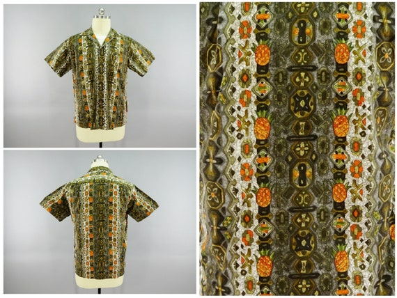 Original 1960s Vintage Hawaiian Aloha Shirt by Lib