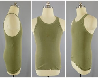 Original US Military Tank Top / A Shirt / Tanker Shirt / US Army / USMC / Marine Corps / Gi Tank Top / Size X Small / 1942 Vintage