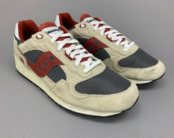 1980s Vintage Style Saucony Shadow 5000 Sneakers, 80s Retro Jogging Shoes, Mens Size 13 Leather & Nylon Tennis Shoes