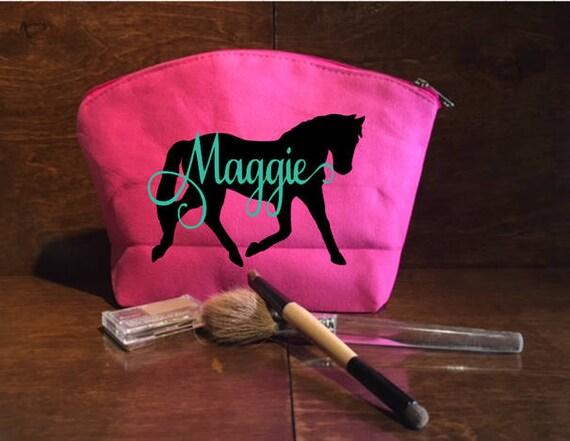 Spectacle cheval, cheval sac personnalisé Make Up Bag, sac de toilette personnalisé, Quarter Horse, spectacle cheval sac, 4H cheval, FFA cheval, cheval de Ranch
