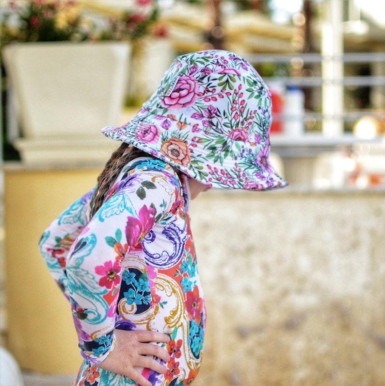 01c9d8a7701f kids summer hat,girls bucket hat,swim hats,girls beach hat,floral  swimwear,girls birthday gift,kids sun hats,kids swimwear,kids swim hats