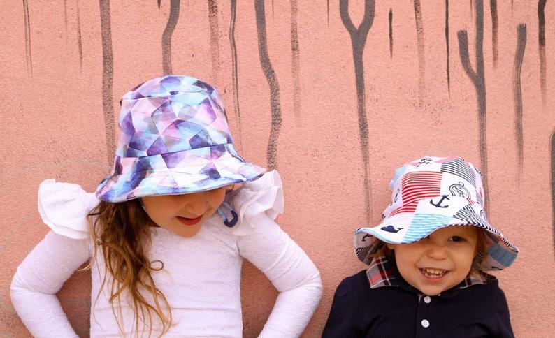 6bd3d322ca9f Kids summer hatblue bucket hatbaby sun protectiongirls