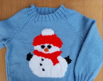 Snowman picture jumper