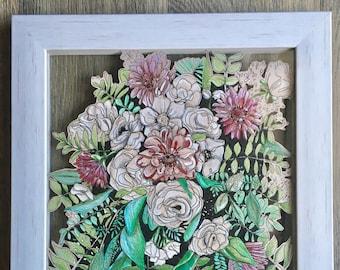 Custom Wedding Bouquet Drawings!
