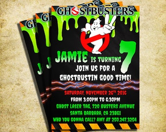Ghostbuster invite Etsy