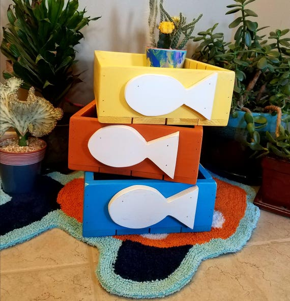 Fun storage boxes for Cat toys and treats/Can make in any color. Listed price is per box.
