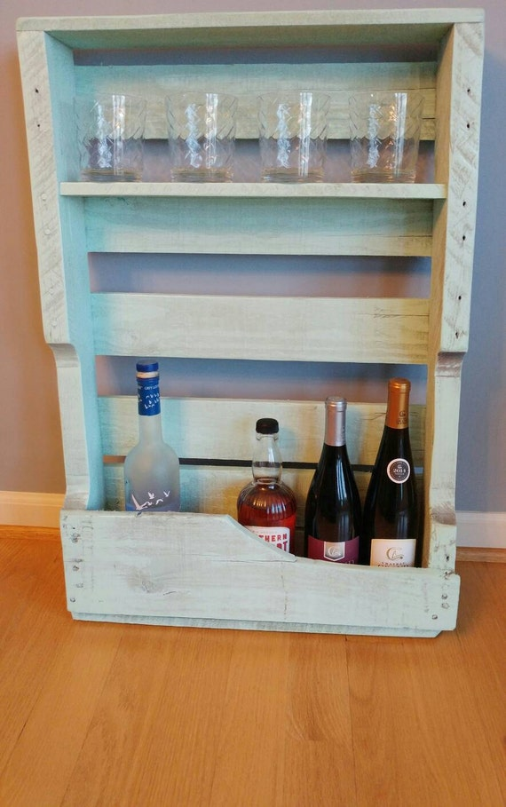 "Small Wine Rack made from pallet wood 20.5"" W X 31"" L"