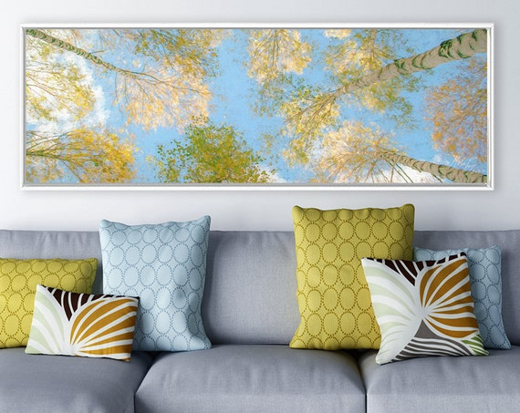 Crown Shyness - Contemporary Oil Painting On Canvas - Ready To Hang Large Panoramic Canvas Wall Art Prints With And Without Floating Frames.