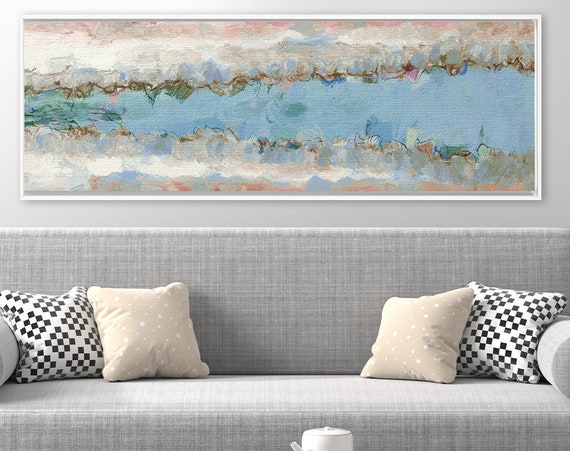 Minimalist wall art, abstract oil landscape painting on canvas - ready to hang large canvas wall art prints, with or without floater frames.