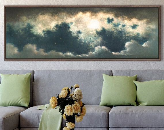 Night Sky, Celestial Wall Art, Impressionist Oil Painting On Canvas - Ready To Hang Canvas Wall Art Prints With Or Without Floating Frames.