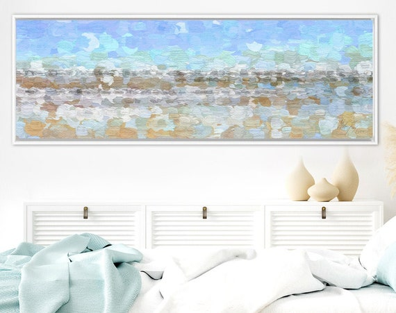 Minimalist wall art. Abstract oil landscape painting on canvas - ready to hang large canvas wall art prints, with or without floater frames.