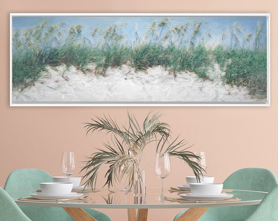 Dune Wall Art, Oil Landscape Painting On Canvas - Ready To Hang Large Gallery Wrapped Canvas Wall Art Prints With Or Without Floating Frames