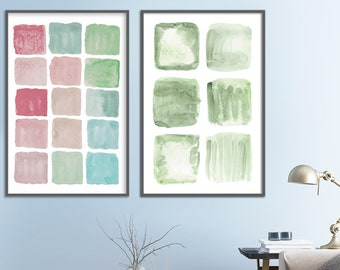 Modern minimalist, abstract painting, abstract wall art, large wall art, large abstract art, abstract watercolor, watercolor art, wall art.