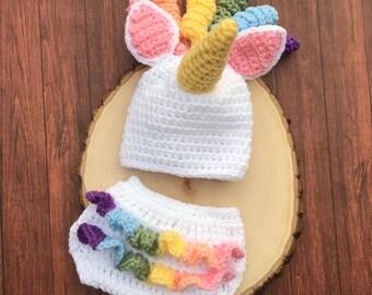 55674796413 Newborn unicorn outfit-newborn unicorn hat-baby unicorn hat-photo  prop-newborn photo prop-ready to ahip
