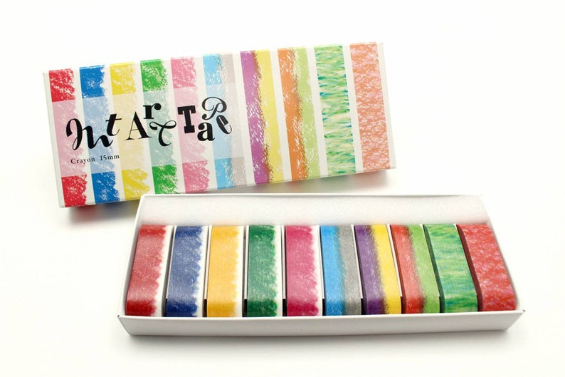 Crayon mt Art Tape 15mm\uff0c Crayon masking tape
