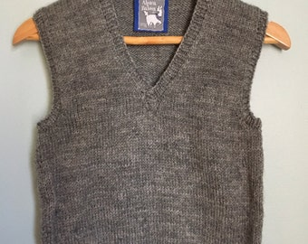 9e51ab901 The Andrew Alpaca Vest. All natural, organic, dye free and hypoallergenic.