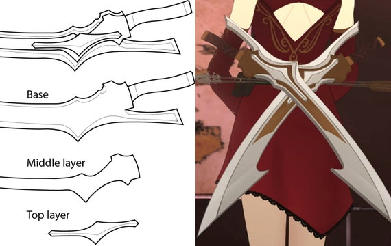 Rwby cinder fall sword blueprint de annascosplay en etsy studio malvernweather Choice Image