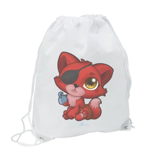 Bag Bag Chibi Foxy Pirate Fnaf Five Nights At Freddys Fanart Cute Kawaii Pirate