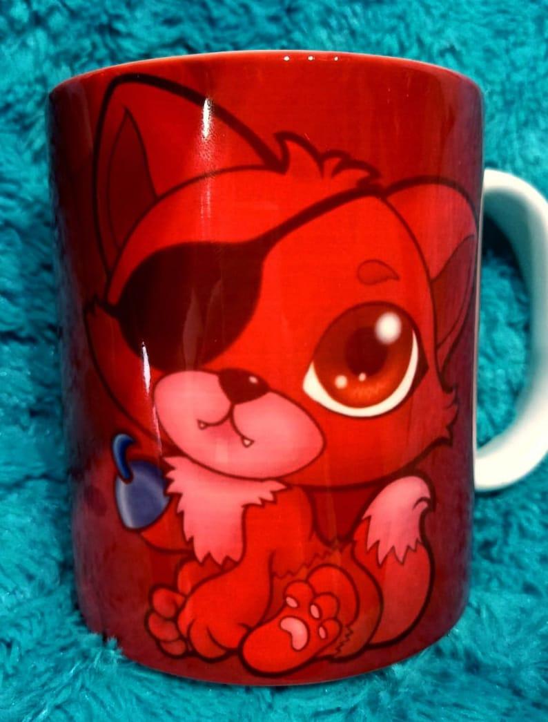 Chibi Pirate Foxy Fnaf fanart Mug Cup Tasse Cup