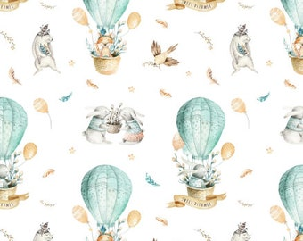 Cotton crib sheets and Mini crib sheets sweet dreams bunny rabbits fox aqua blue hot air balloons Bloom baby babybjorn nuna sena lotus 4Moms