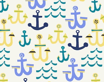 Cotton Crib Sheets & Mini crib sheets including 4moms Nuna sena Lotus Graco Arms Reach Bloom Baby etc boat anchors ocean blue yellow seaside