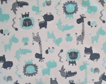 Cotton Crib Sheets & Mini crib sheets including 4moms Nuna Sena Babyjorn Arms Reach Bloom Baby etc Mint gray gender neutral zebra giraffe