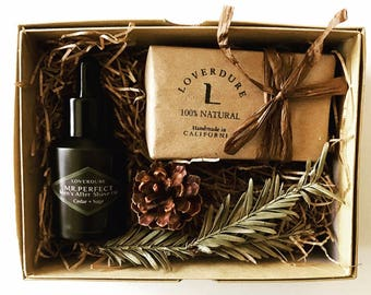 Gift Set for Him, MR. PERFECT After Shave Oil Set, Handmade All Natural Soap, Anniversary Gift, Men's Gift Set