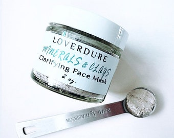 Clarifying Face Mask - Minerals and Clays, Sulphur Mud Mask, clears pores, draws out skin impurities, detoxifies the skin